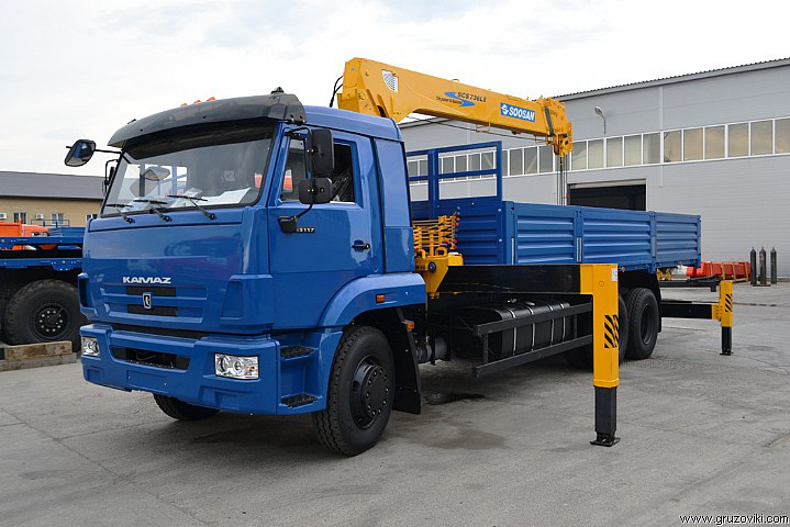 КАМАЗ 65117 с КМУ Soosan SCS 736 L2 TOP